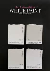 4 fave white tones by the Benjamin Moore Paint people.