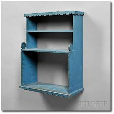 small blue shelf
