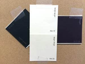 A White, a Light, and a Dark and Deep. An exterior color scheme.