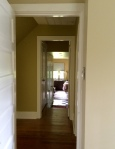 AFTER: Upstairs office to hallway to bedroom. 3 colors relating to each other happily.