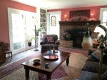 AFTER: beautiful Claret for the family room
