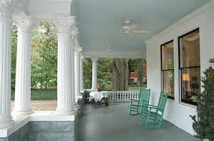Haint Blues belong on porches.