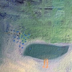 Detail. Birds int he Wood. o/handmade paper. ©2017BarbaraMayfield