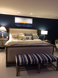 Master bedroom. Jim and Patty wanted elegance and drama.