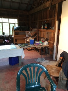 Spent a week painting in the Sugar House studio at Spring Hills Farm, near Scranton.