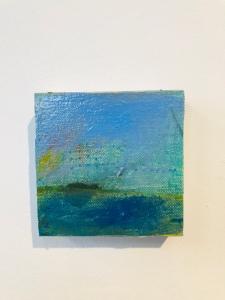 """Bora Bora (19) oil on canvas on panel 4""""x4"""""""