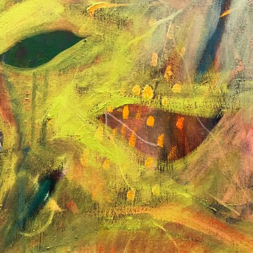 close up fragment. oil on canvas/ The Garden Series